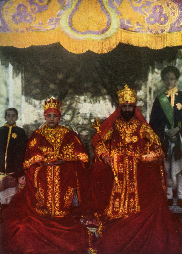 The coronation of His Imperial Majesty Haile Selassie