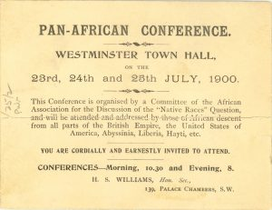 The first Pan African Conference