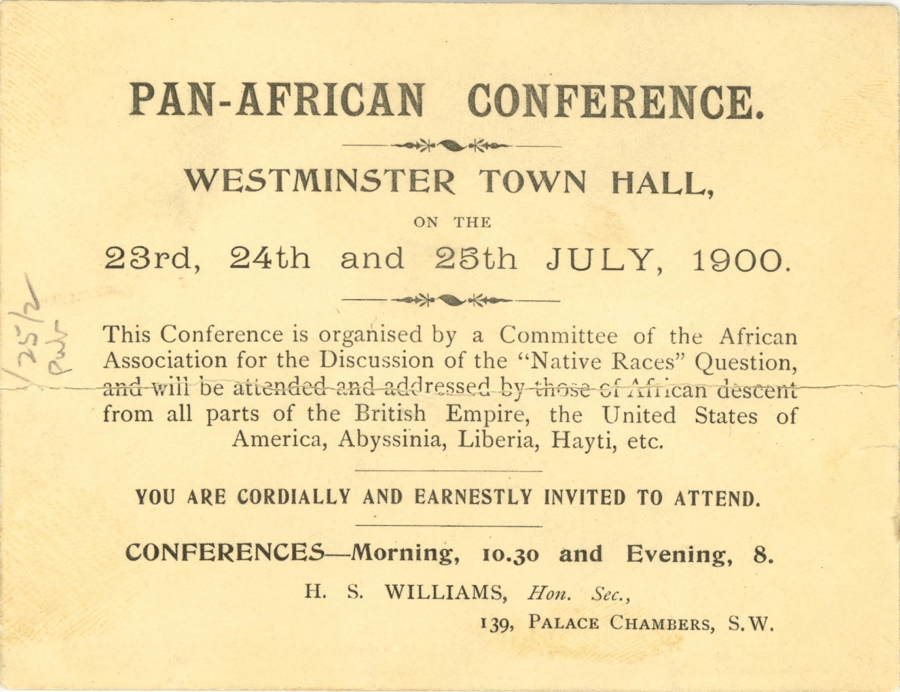Invitation to the first Pan-African Conference