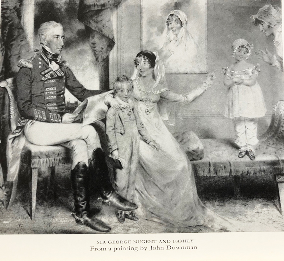 Sir George and Lady Nugent with their children